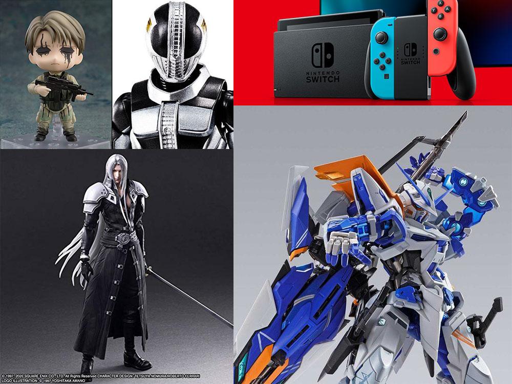 switch最新事情とセフィロス、メタルビルド、真骨彫電王などフィギュア諸々。
